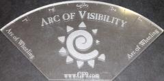Arc of Visibility Template - Acrylic, Clear