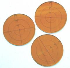"3"" Round Template - Fiery Orange"