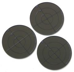 "3"" Round Template - Smokey Gray"