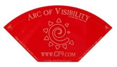 Arc of Visibilty Template - Acrylic, Red
