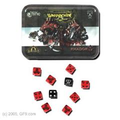 Khador Dice Set w/Carrying Tin