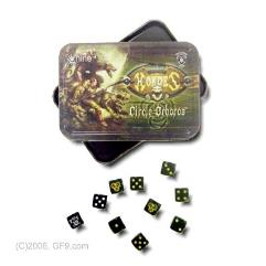 Circle Orboros Dice Set w/Carrying Tin