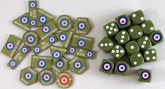 British Paratrooper Dice & Token Set