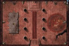 "30"" X 20"" Vinyl Game Mat - Red Hall of Vor Rukoth"