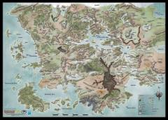 "30"" x 42"" Vinyl Game Mat - Forgotten Realms World Map"