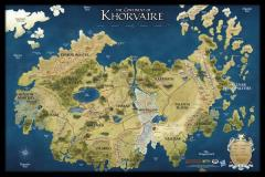 "30"" x 42"" Vinyl Game Mat - Eberron, Continent of Khorvaire Map"