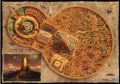 "30"" x 42"" Vinyl Game Mat - Dark Sun, City of Tyr Map"