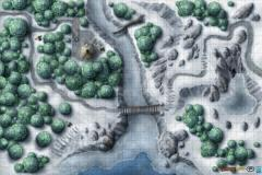 "30"" x 20"" Vinyl Game Mat - Frozen Wilderness"