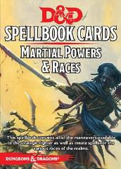 Spellbook Cards - Martial Powers & Races (1st Edition)