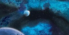 "72"" x 36"" Vinyl Game Mat - Crimson Gas Giant/Frozen Star System"