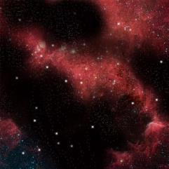 "36"" x 36"" Vinyl Game Mat - Crimson Gas Cloud"