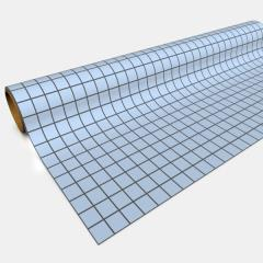 "Paper Game Mat - 30"" x 12', Blue (1"" Squares)"