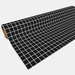 """Paper Game Mat - 30"""" x 12', Black (1"""" Squares) (4-Pack)"""