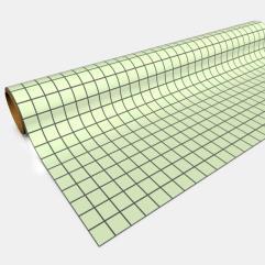 "Paper Game Mat - 30"" x 12', Green (1"" Squares)"