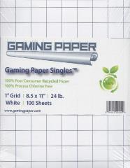 "8.5"" x 11"" Reversible Graph Paper (1"" Square)"