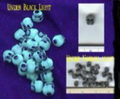 Glow in the Dark Skull Beads Counters (10 Packs of 25)