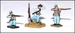 Skirmishers in Action Poses - CSA