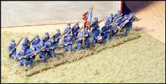 Infantry Advancing in Frock Coats & Forage Caps