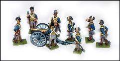 6 Pound Royal Artillery Section - Horse