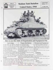 Medium Tank Battalion - United States, 1944
