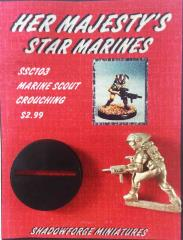Marine Scout Crouching