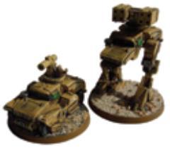 Humvee Vehicle and Walker