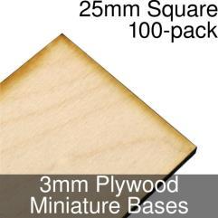 Square Thin Plywood Base - 25mm