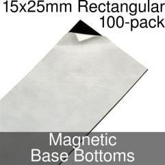 Rectangular Magnetic Base Bottoms - 15x25mm