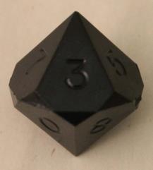 d10 - Black (Plain)