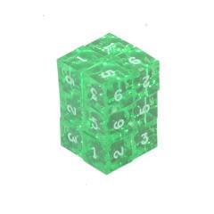 d6 Emerald w/White (12)