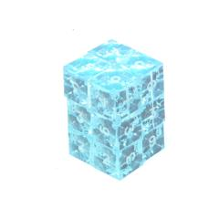 d6 Aquamarine w/White (12)