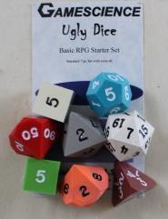 Ugly Dice Starter Set (9) (Inked)