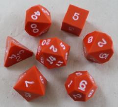 Poly Set - Orange w/White Ink (7)