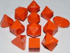 Full Poly Set Orange (12) (Limited Edition) (Plain)