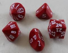 Red Zocchi Set w/White Ink (5)