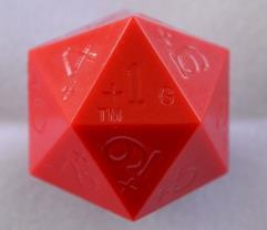 20 Sided 0-9+ Red (Plain)