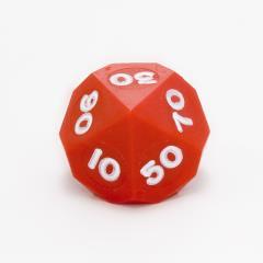 d10% Crimson Red w/White (10)