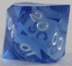 d10 Pentaider - Sapphire w/White Ink