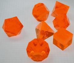Poly Set - Laser Orange (7) (Plain)