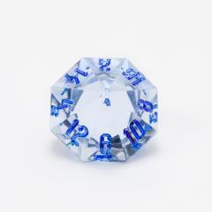 d16 Blue Moonstone w/Blue