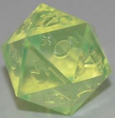 20 Sided 0-9+ Laser Yellow (Plain)