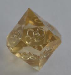 d10 Pentaider - Amber (Plain)