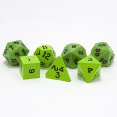 Poly Set Lime Green w/Black (7)