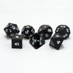 Poly Set Coal Black w/White (7)