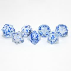 Poly Set Blue Moonstone w/Blue (7)