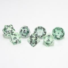 Poly Set Teal Zircon w/Black (7)