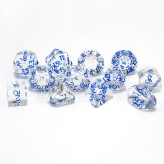 Full Poly Set Diamond w/Blue (12)