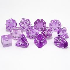Full Poly Set Amethyst w/White (12)