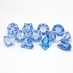 Full Poly Set Blue Moonstone w/Blue (12)