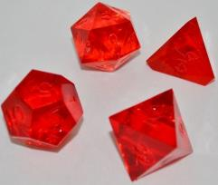 """""""Jumbo"""" Poly Set - Translucent Ruby (4) (Plain)"""